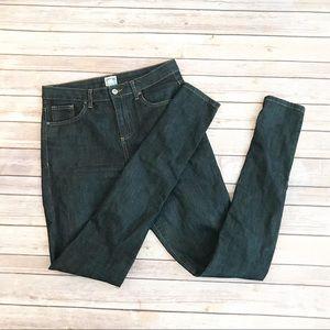 ASOS Highwaisted Skinny Jeans Sz 8 long dark wash